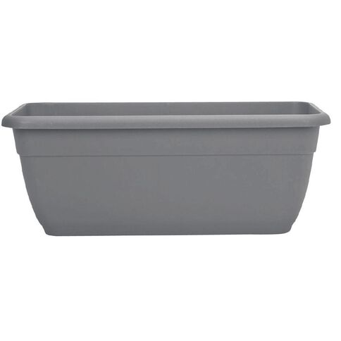 Decor Sorrento Pot Oblong Pewter 450mm