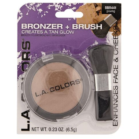 La Colors Bronzer w/Brush Glowing - Large BBR441