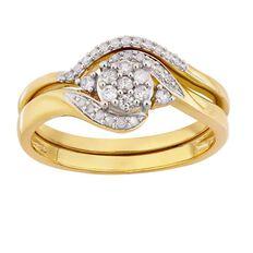 1/4 Carat of Diamonds 9ct Gold Diamond Bridal Set Ring