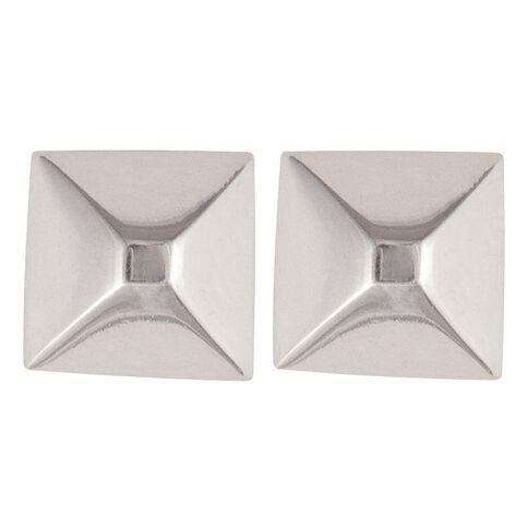 Sterling Silve Dome Stud Earrings