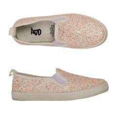 A'nD Kids' Glitter Canvas Slip-on Shoes