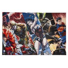 Justice League Heroes Stripes Poster