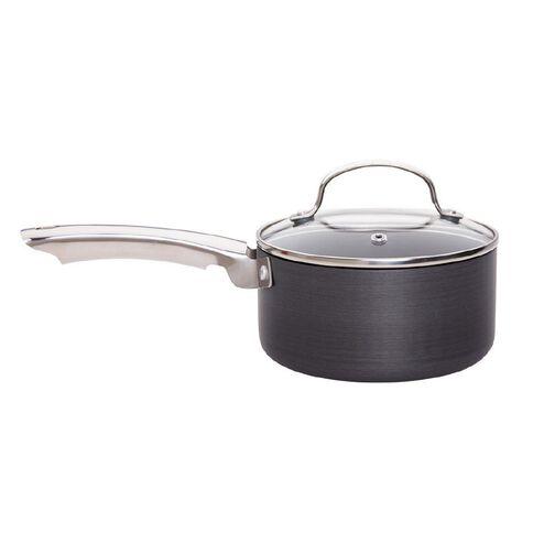 Harrison & Lane Hard Anodized Saucepan with Glass Lid 16cm
