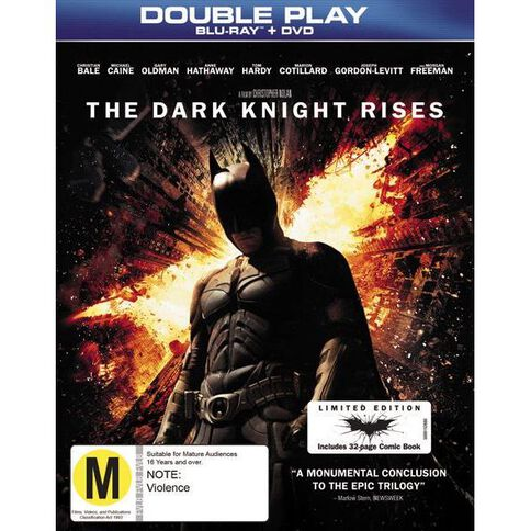 The Dark Knight Rises with Comic Book Blu-ray/DVD 2Disc