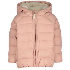 Hippo + Friends Toddler Girl Puff Sherpa Jacket