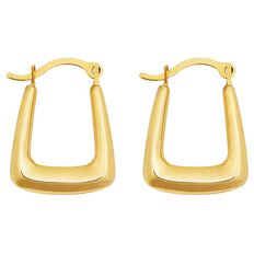 9ct Gold Handbag Hoop Earrings