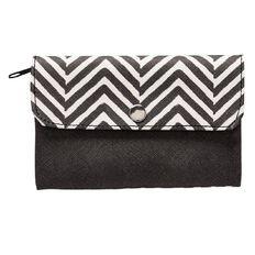 Paper Scissors Rock Wallet PU Black White 15cm x 9cm