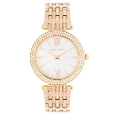 Pierre Cardin Ladies' Gold Plated Crystal Set Watch