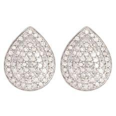 1/2 Carat of Diamonds 9ct Gold Diamond Pear Shape Earrings
