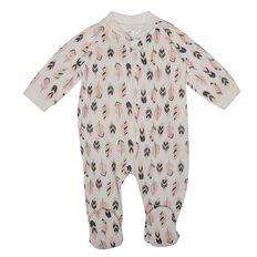 Hippo + Friends Baby Girl All Over Print Fleece All-in-One