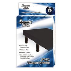 Formula Sports PVC Pool Table Cover Black 7 Foot