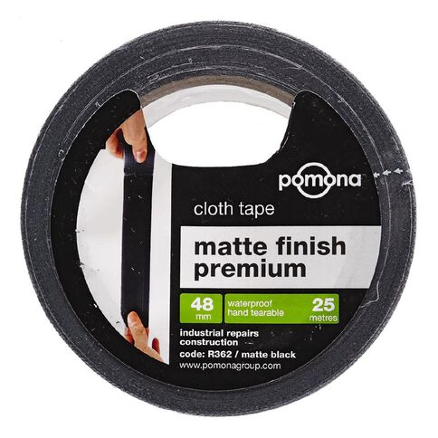 Pomona Matt Cloth Gaffer Tape Black 48mm x 25m