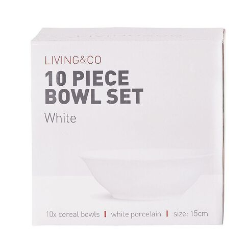 Living & Co Bowl Set 10 Piece White