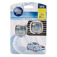 Ambi Pur Car Vent Clip Sky Breeze 2 Pack