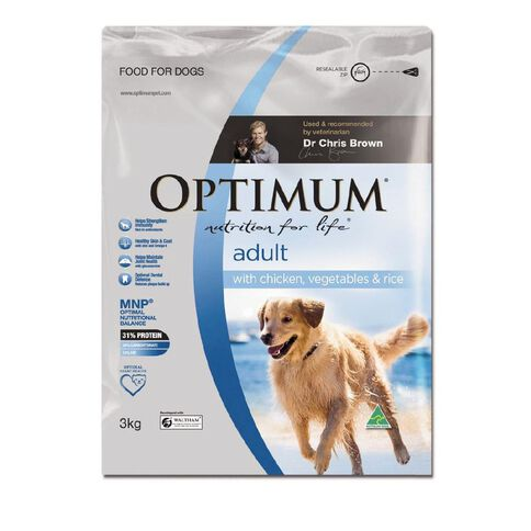 Optimum Adult Dog Chicken Veg Rice 3kg