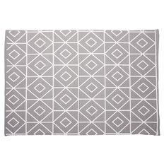 Living & Co Rug Taryn Bleached Printed Grey/ White 120cm x 170cm