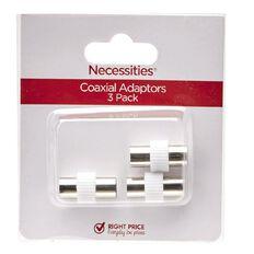 Necessities Brand Coaxial Adaptors 3 Pack