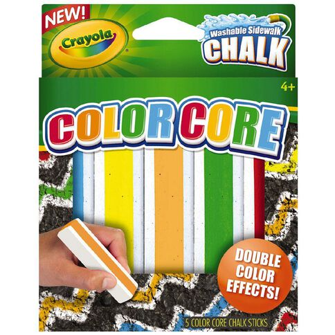 Crayola Sidewalk Chalk Special Effects Colour Core 5 Pack