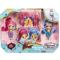 Fisher-Price Shimmer & Shine Magic Flying Carpet & Dolls