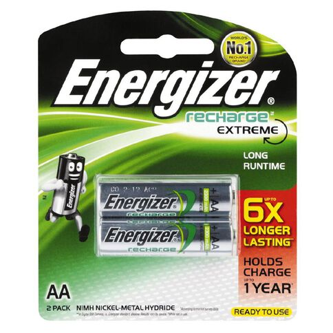 Energizer Rechargeable Battery NiMH AA 2 Pack