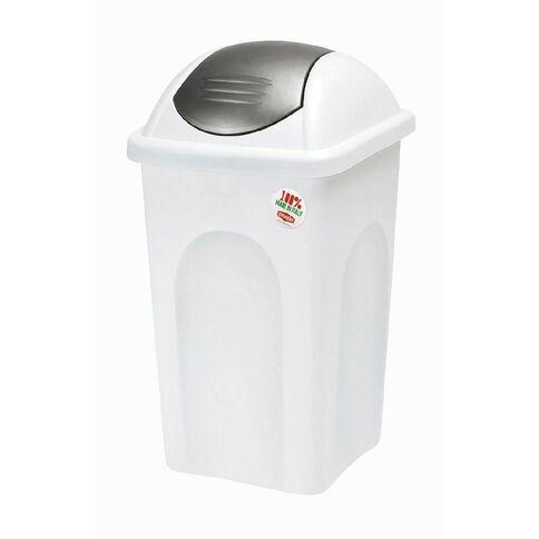 Stefanplast Primavera Swing Top Rubbish Bin White 30L
