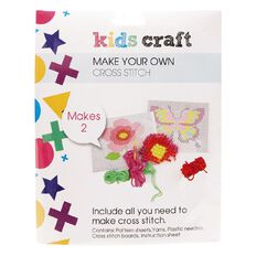 Kids' Art & Craft Make My Own Cross Stitch 2 Pack