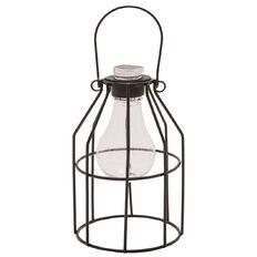 Living & Co Solar Metal Cage Light