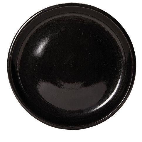 Gloss Black Round Saucer 30cm