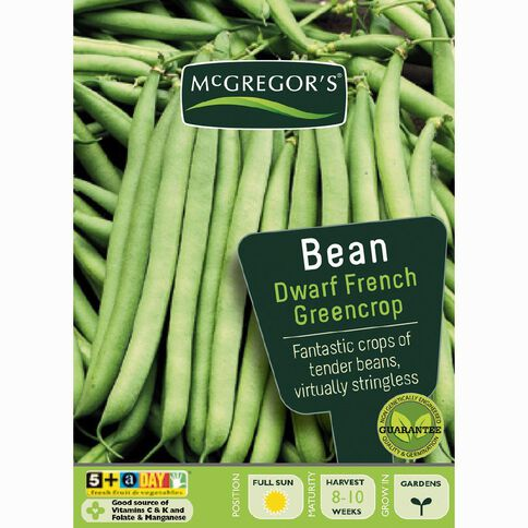 McGregor's Greencrop French Dwarf Beans Vegetable Seeds