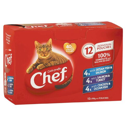 Chef Fish Variety Pouches Pack 12 Pack