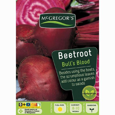 McGregor's Bullsblood Beetroot Vegetable Seeds
