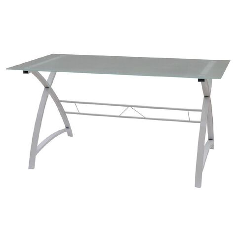 Solano Office Glass Top Desk
