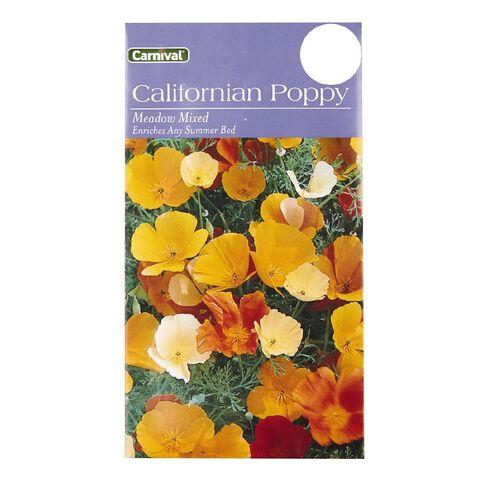 Carnival California Poppy Flower Seeds