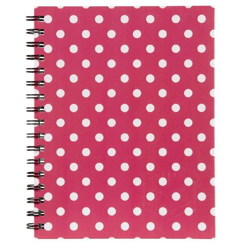 Spirax 511 Hard Cover Side Opening Spots Blush