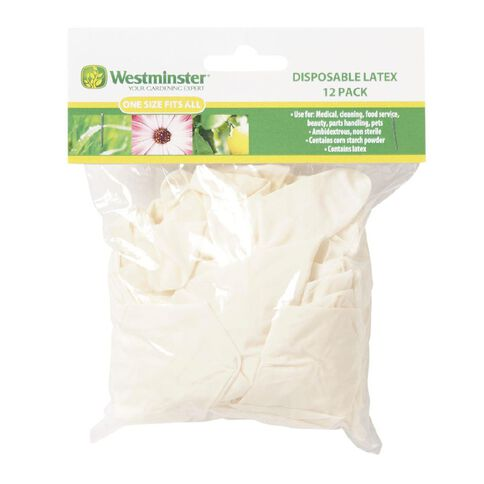 Westminster Garden Disposable Gloves Large 12 Pack Assortment