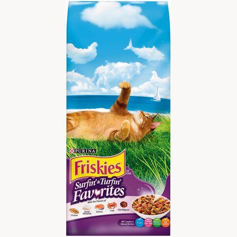 Friskies Surfin & Turfin Dry Cat Food 2.86kg