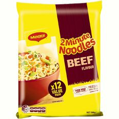 Maggi 2 Minute Noodles Beef 12 Pack