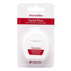 Necessities Brand Dental Floss Mint 50m