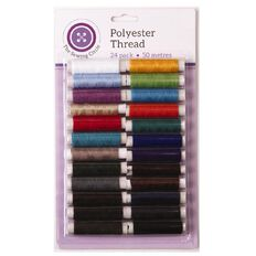 The Sewing Circle 100% Polyester Thread 24 Pieces 50m