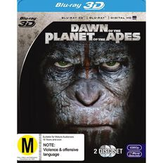 Dawn of The Planet of The Apes 3D Blu-ray 3Disc