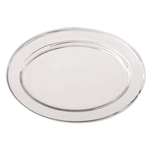 Necessities Brand Metal Platter Oval Small