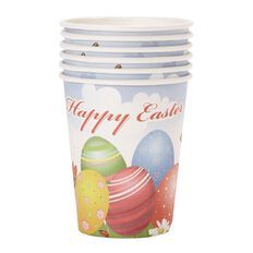 Party Inc Easter Cup 260ml 6 Pack