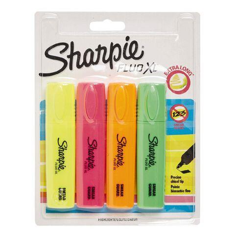 Sharpie Fluo Highlighter Assortment 4 Pack  x L