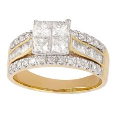 2 Carat of Diamonds 18ct Gold Diamond Fancy Ring