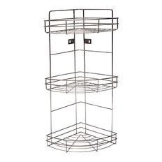 Necessities Brand Screw Tap Shower Caddy Chrome 3 Shelf