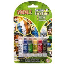 Facepaint Sports Stick 6 Pack