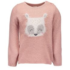 Hippo + Friends Toddler Girl Animal Knit Jumper