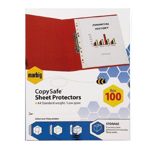 Marbig Copysafe Pockets A4 100 Pack