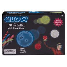 Glow Balls 8cm 6 Pack