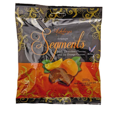 Ashley's Chocolate Flavour Orange Segments 200g